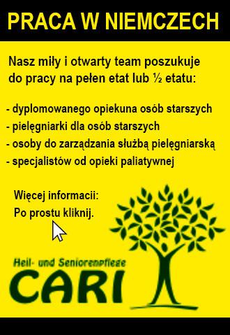 Praca w Niemczech (opiekunka) - 05.06 - 05.07.2021
