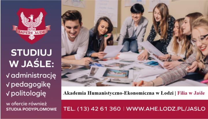 Studiuj w Jaśle • TRWA REKRUTACJA • Akademia Humanistyczno-Ekonomiczna w Łodzi | Filia w Jaśle