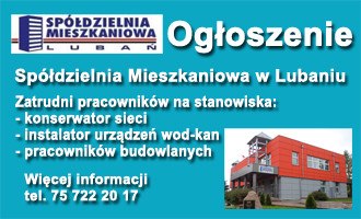 Spółdzielnia Mieszkaniowa w Lubaniu zatrudni pracowników