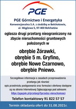 PGE GiEK O.ZE Dolna Odra - przetarg (27.07.-30.08.2021)