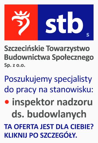 Szczecińskie Towarzystwo Budownictwa Społecznego - oferta pracy (31.08 - 30.09.2021)